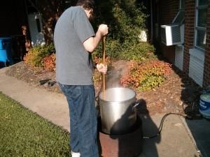 Charles stirring